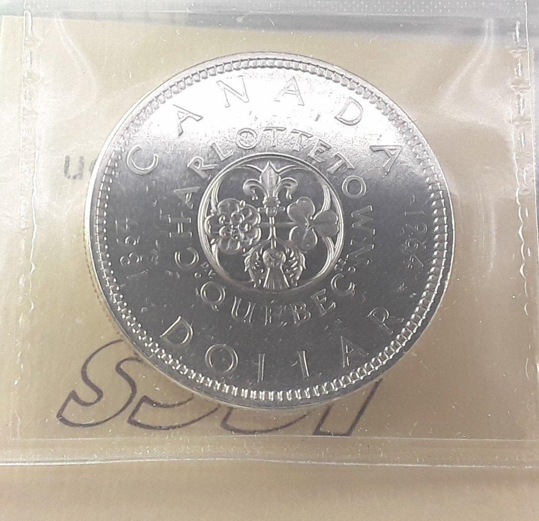Canadian -  1964 Silver Dollar ($1) PL67 Heavy Cameo - 4