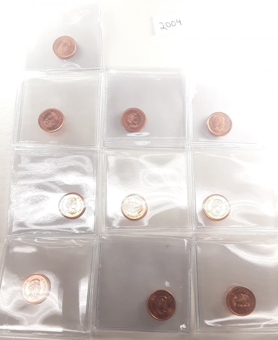 Canadian 1 Cent Coin Collection - 6