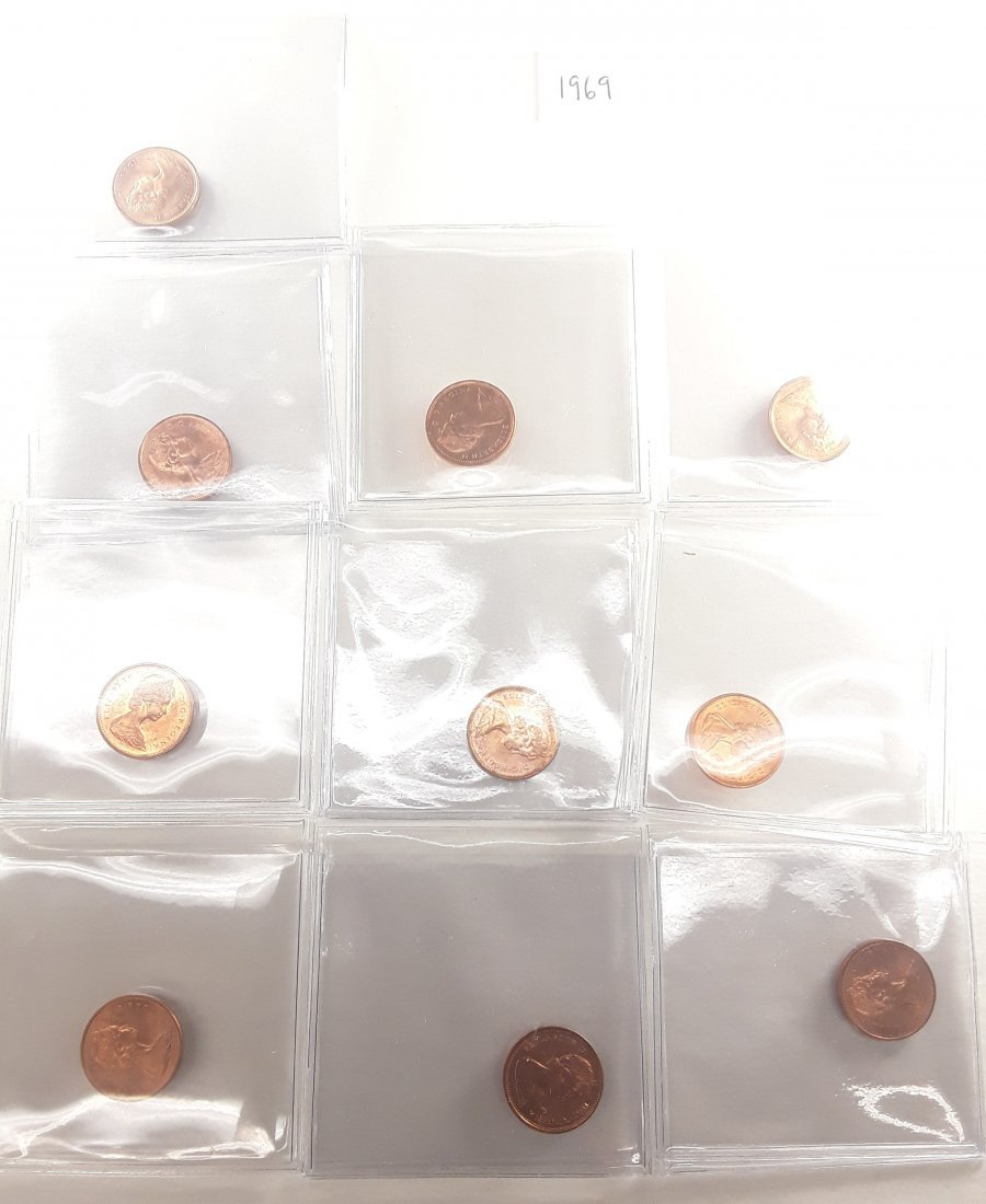 Canadian 1 Cent Coin Collection - 7