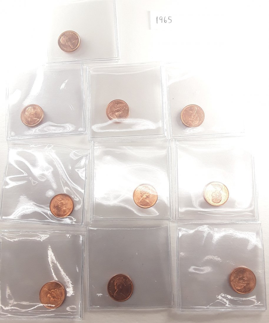 Canadian 1 Cent Coin Collection - 8