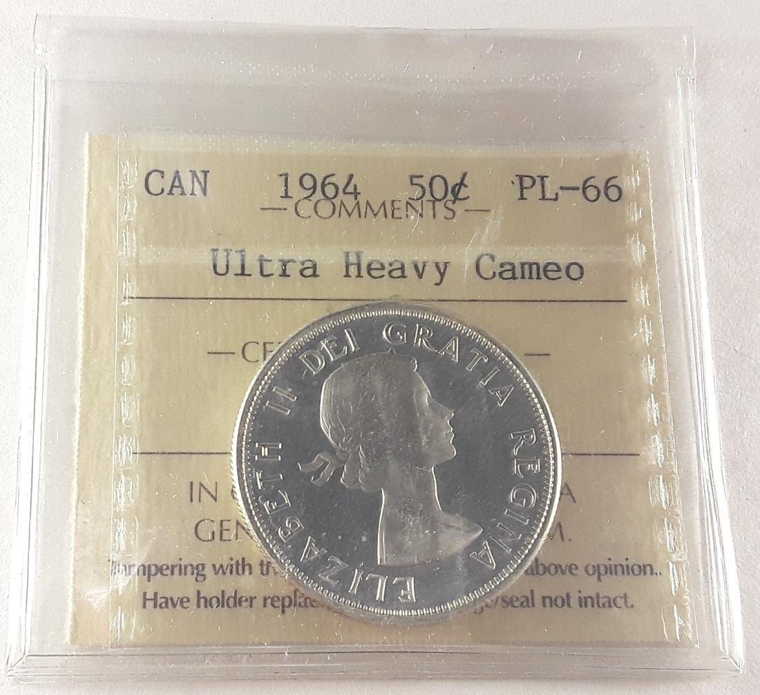 Canadian - 1964 50 Cent PL66 Ultra Heavy Cameo Coin