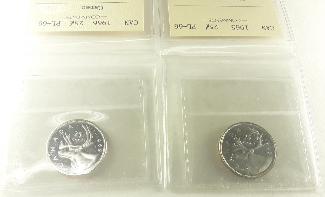 Canadian Prooflike 25 Cent Collection - 2