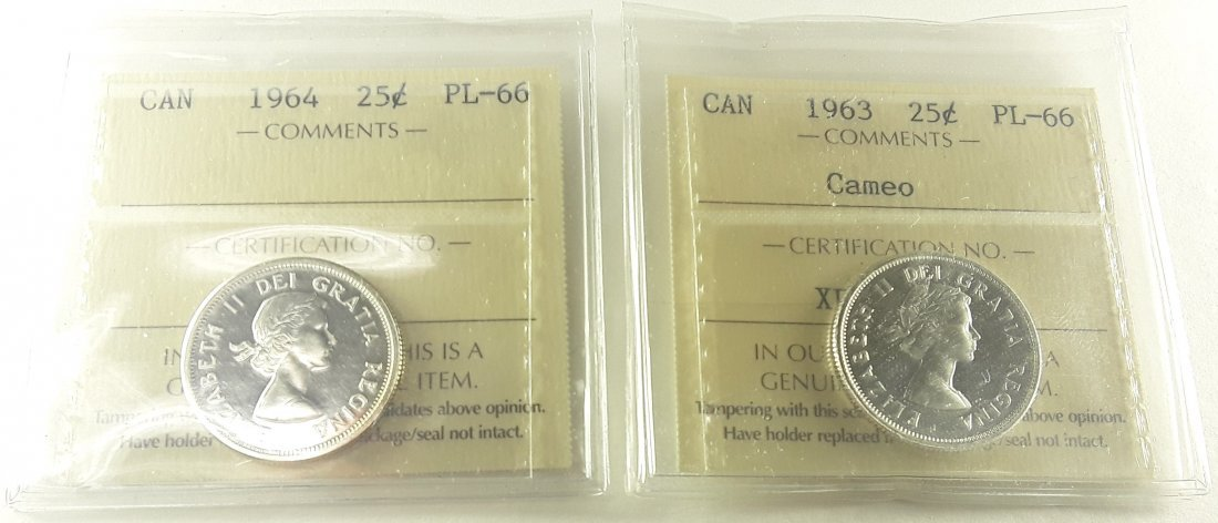 Canadian Prooflike 25 Cent Collection - 3