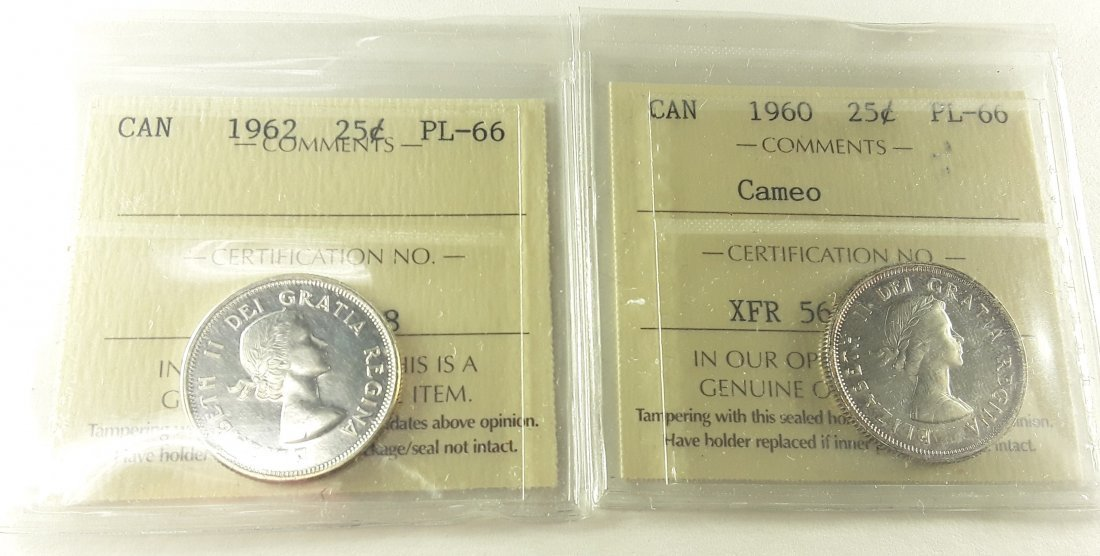 Canadian Prooflike 25 Cent Collection - 5