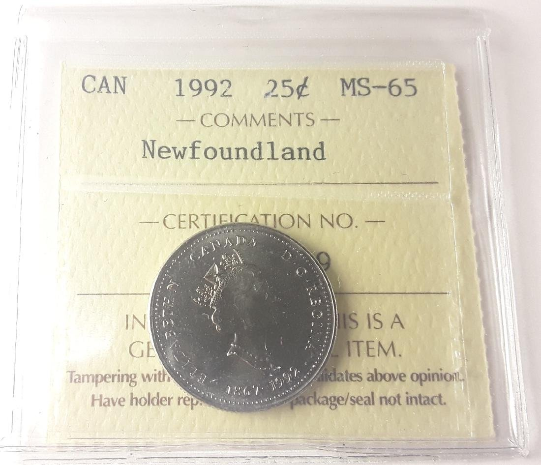 Canadian 1992 Newfoundland 25 Cent Collection