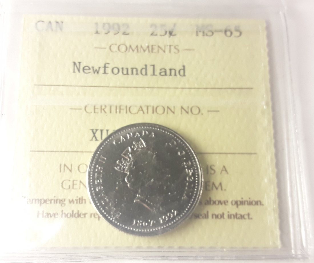 Canadian 1992 Newfoundland 25 Cent Collection - 5