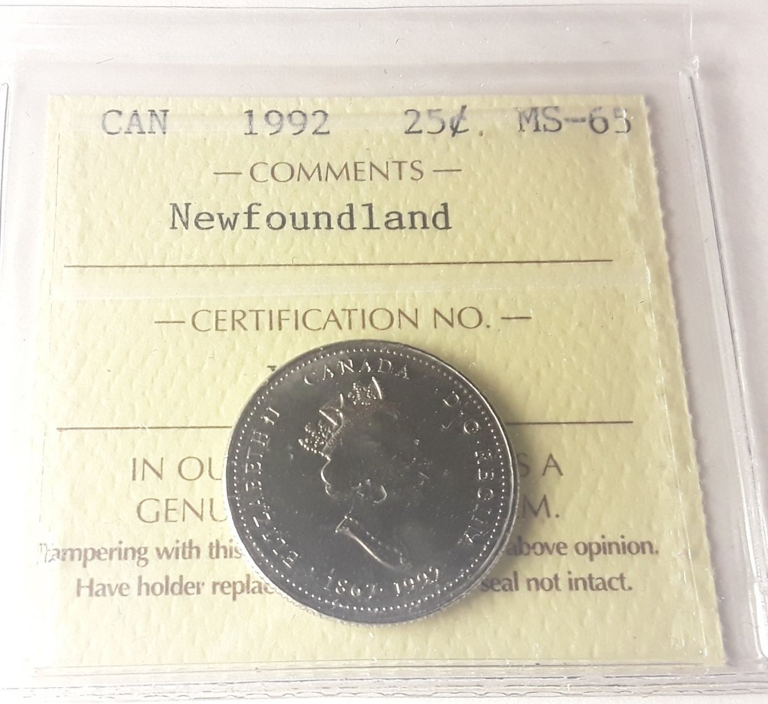 Canadian 1992 Newfoundland 25 Cent Collection - 7