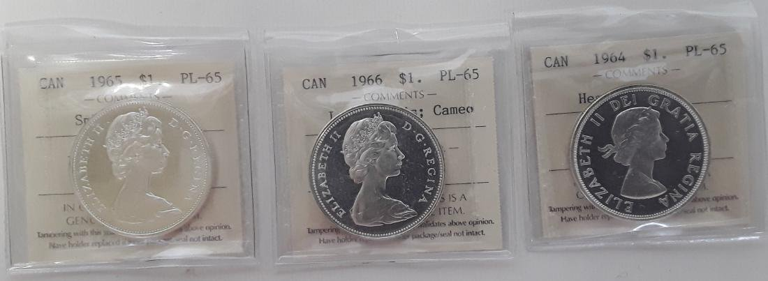 Canadian Prooflike Dollar Collection