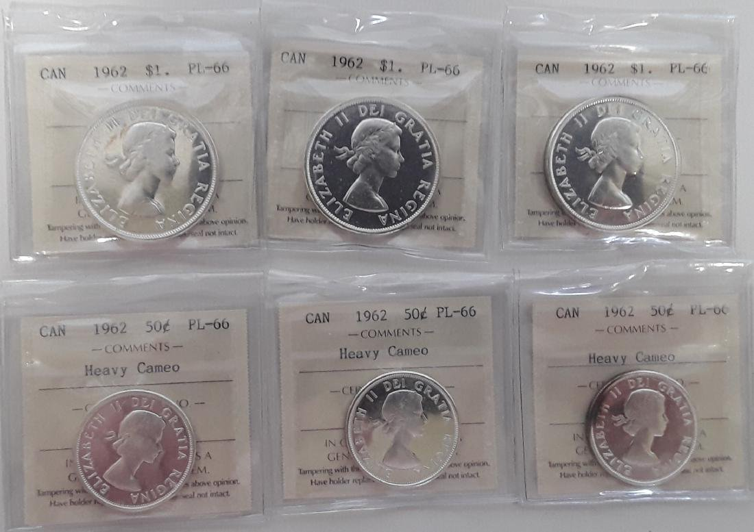 Canadian  1962 Prooflike Coin Collection