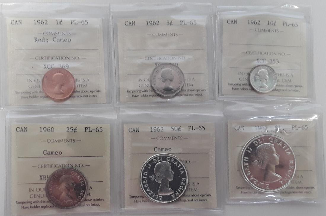 Canadian 1962 Proodlike Coin Set