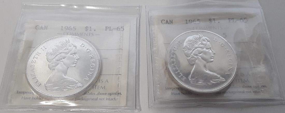 Canadian 1965 Prooflike silver dollar  Coin