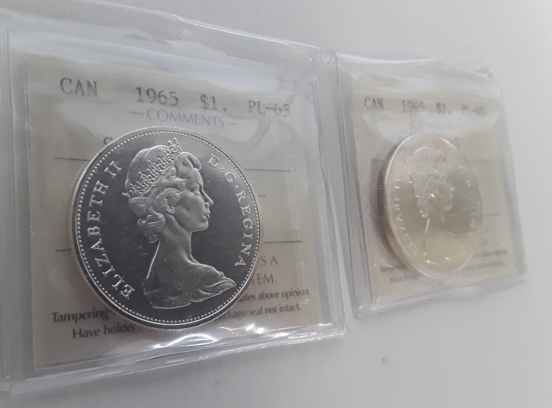 Canadian 1965 Prooflike silver dollar  Coin - 3