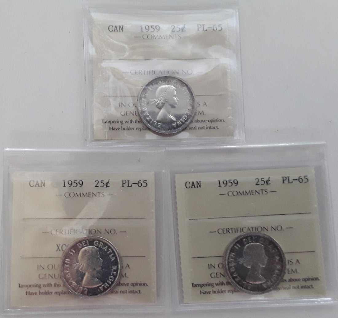 Canadian Prooflike 25 Cent Collection - 10