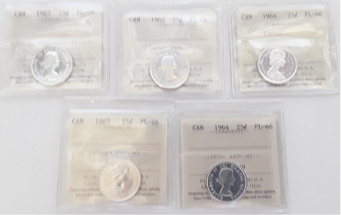 Canadian Prooflike 25 Cent Collection