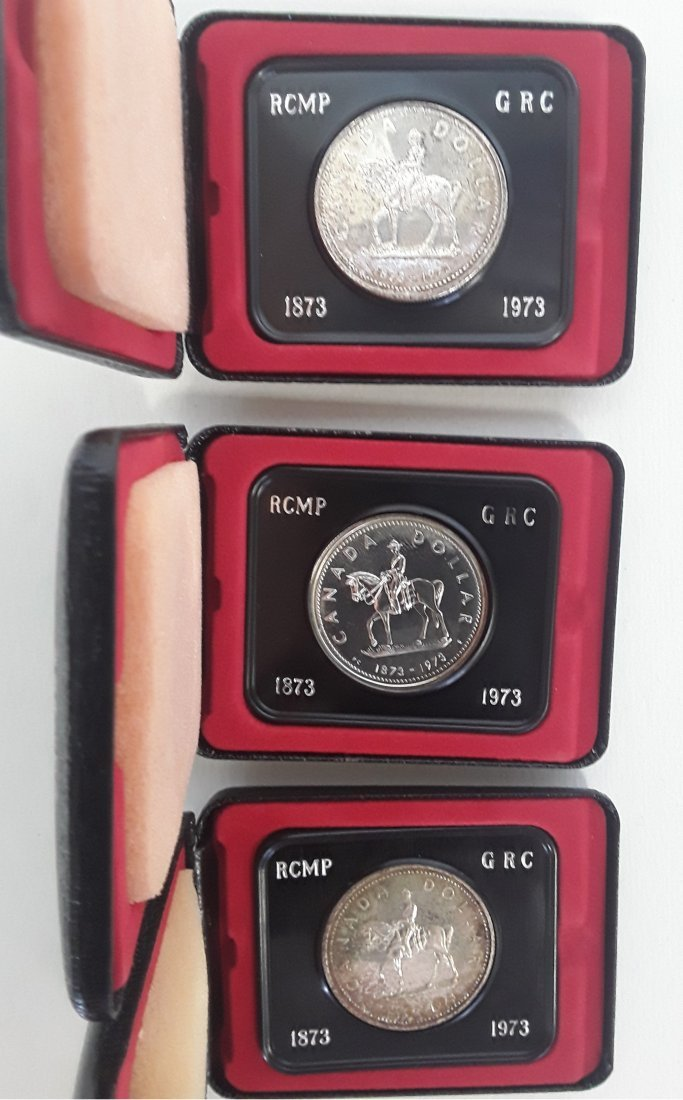 Canadian Group of Silver Dollars and RCMP Silver Coins - 3