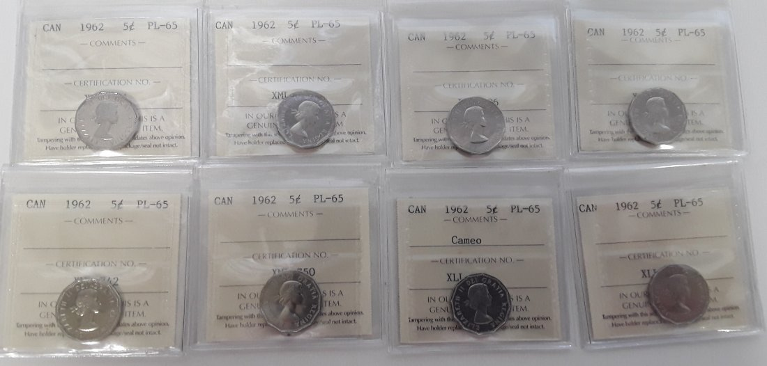 Canadian  1962 Prooflike 5 Cent (silver)  Coin - 4