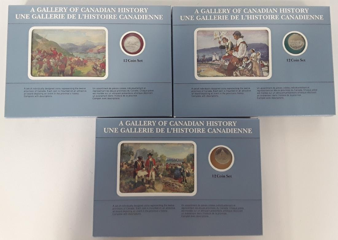 Canadian Gallery of History Coin Sets