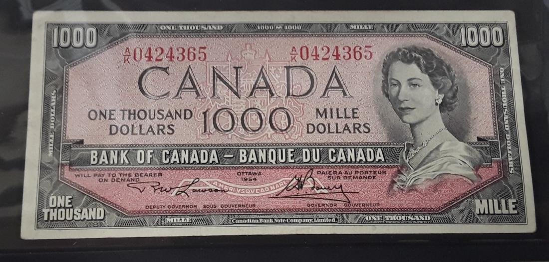 Canadian $1,000 Banknote