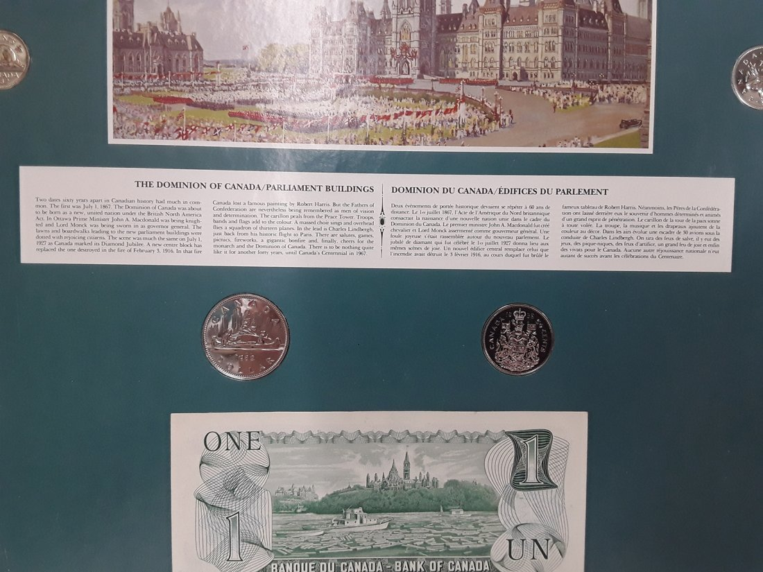 Coin Art - The Dominion of Canada/Parliament Buildings - 2