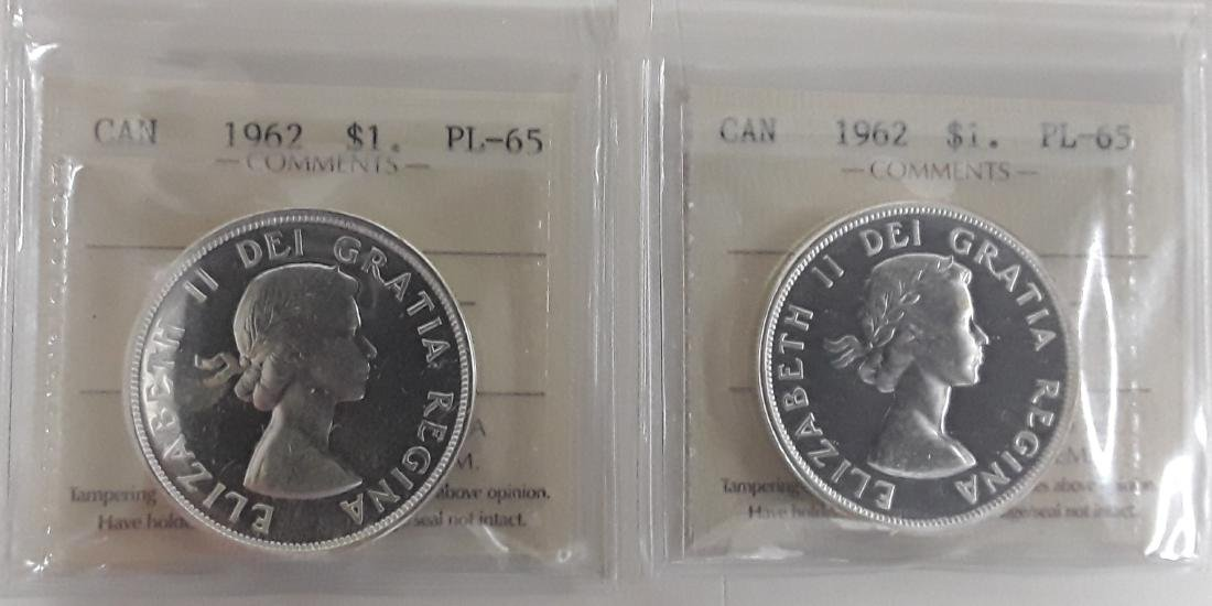 Canadian  1962 Prooflike Silver Dollar Coin Collection - 7