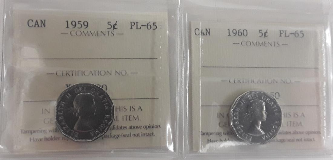 Canadian 1 Cent and 5 Cent Coin Collection