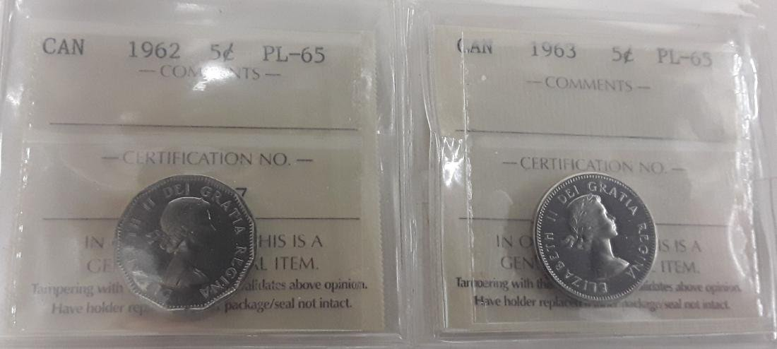 Canadian 1 Cent and 5 Cent Coin Collection - 2