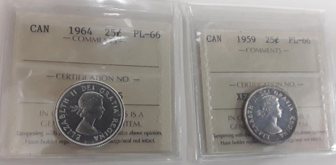 Canadian 1965 Prooflike 25 Cent Coin (quarter) - 10