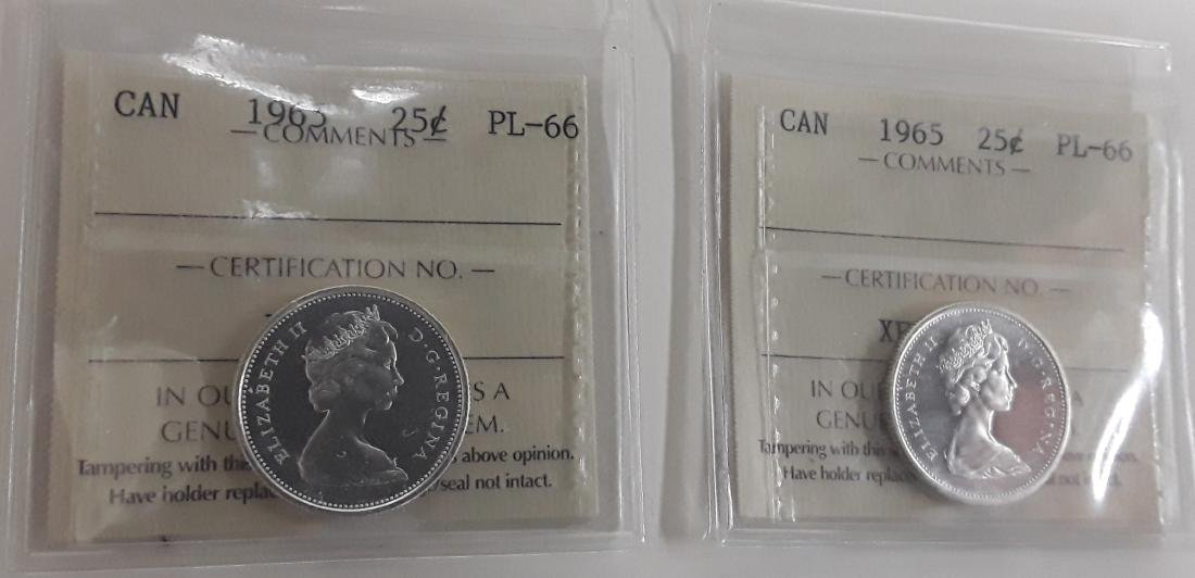 Canadian 1965 Prooflike 25 Cent Coin (quarter) - 8