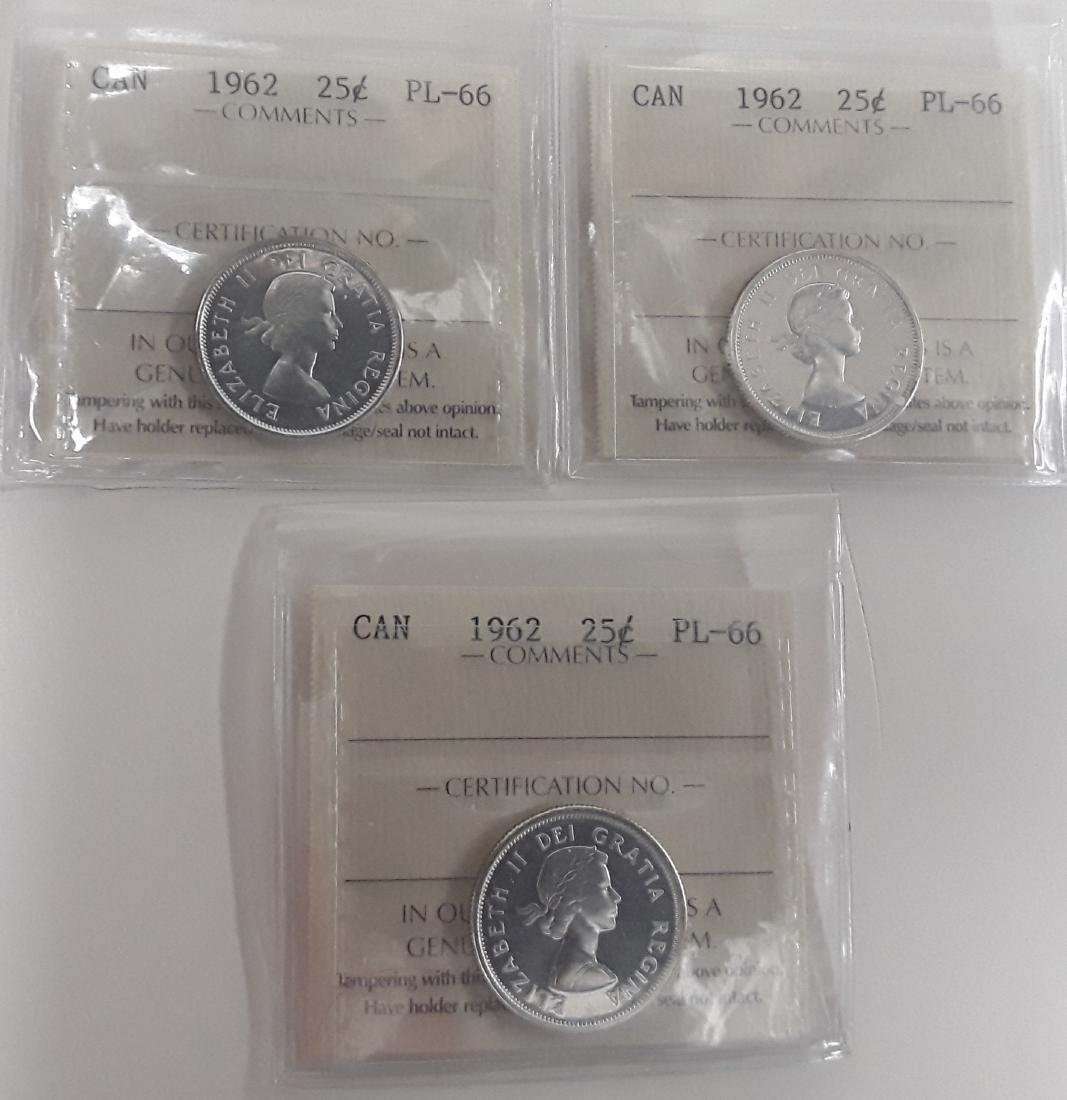 Canadian  1962 Prooflike 25 (quarter) Cent  Coin - 5