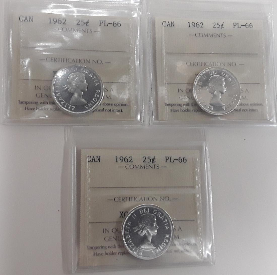 Canadian  1962 Prooflike 25 (quarter) Cent  Coin - 6