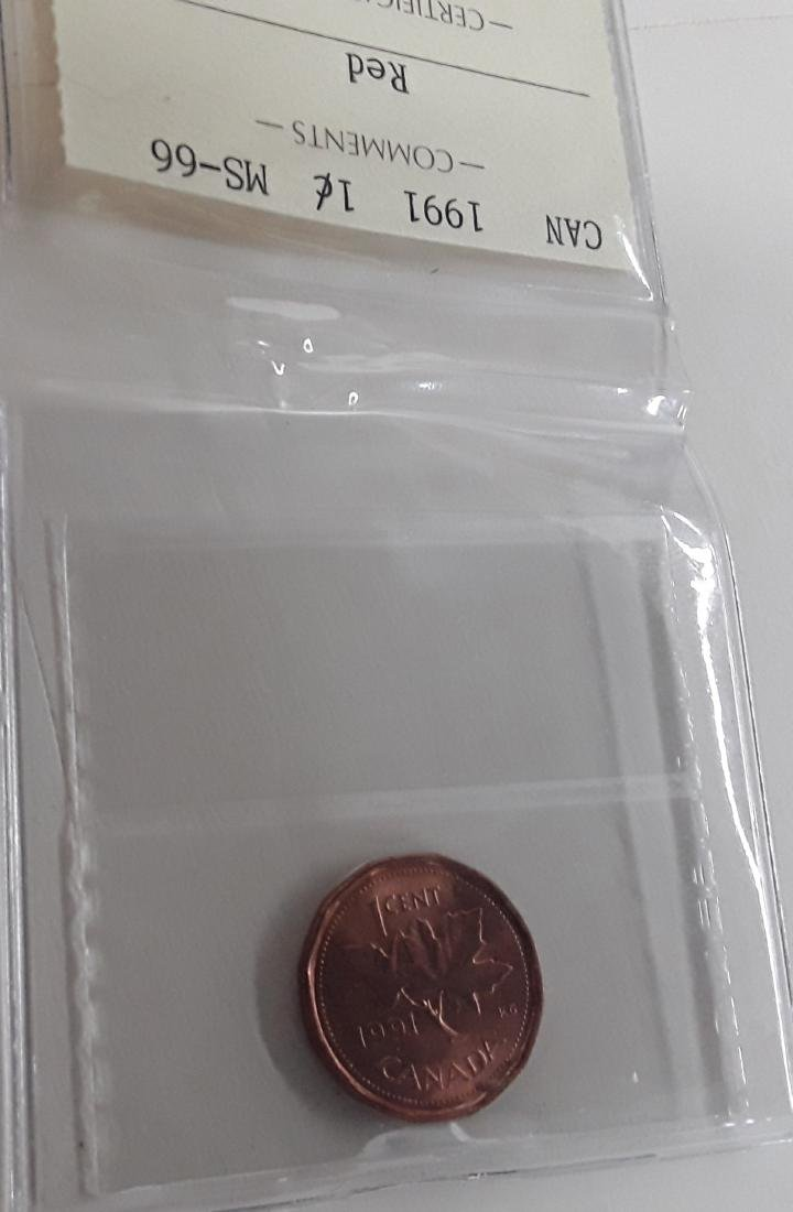 Canadian 1991 1 Cent  Coin Collection - 7