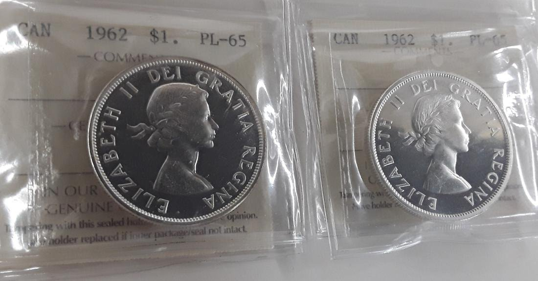 Canadian  1962 Prooflike Silver Dollar Coin Collection