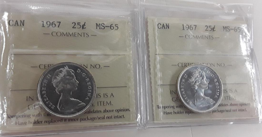 Canadian 1967 25 Cent Coin Collection (quarter)