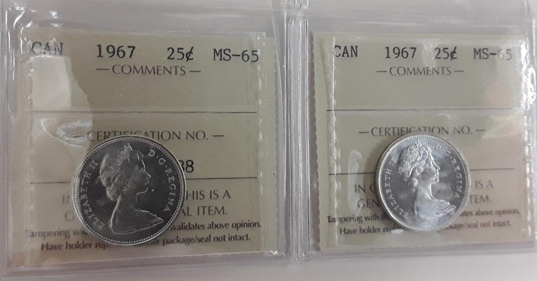 Canadian 1967 25 Cent Coin Collection (quarter) - 3