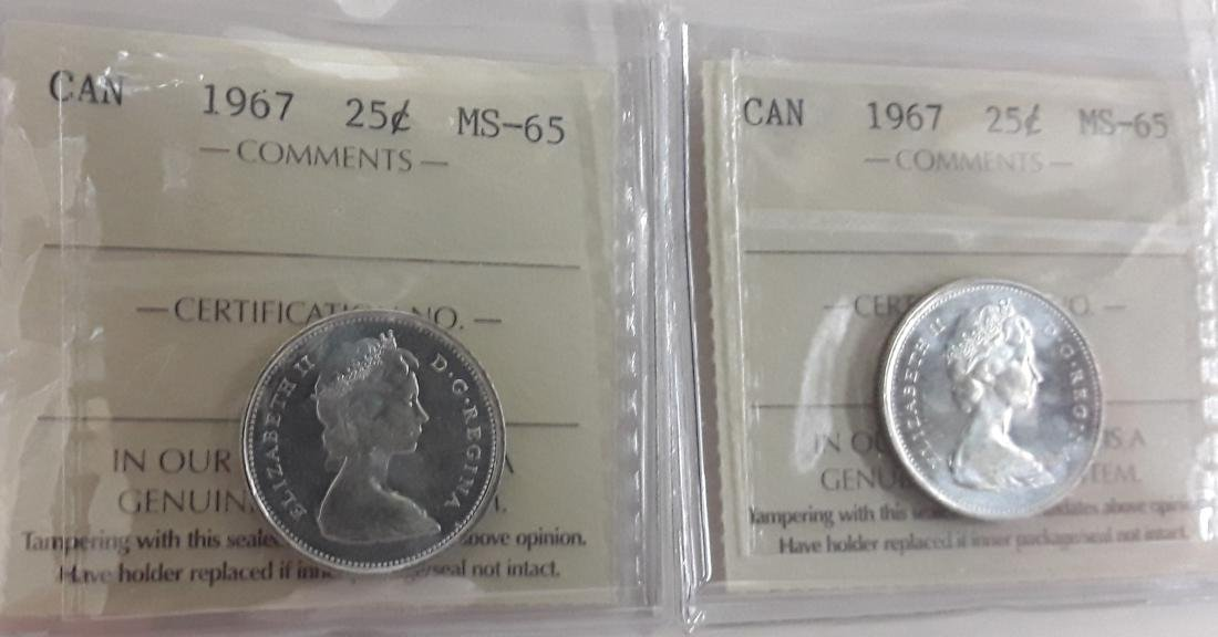 Canadian 1967 25 Cent Coin Collection (quarter) - 5