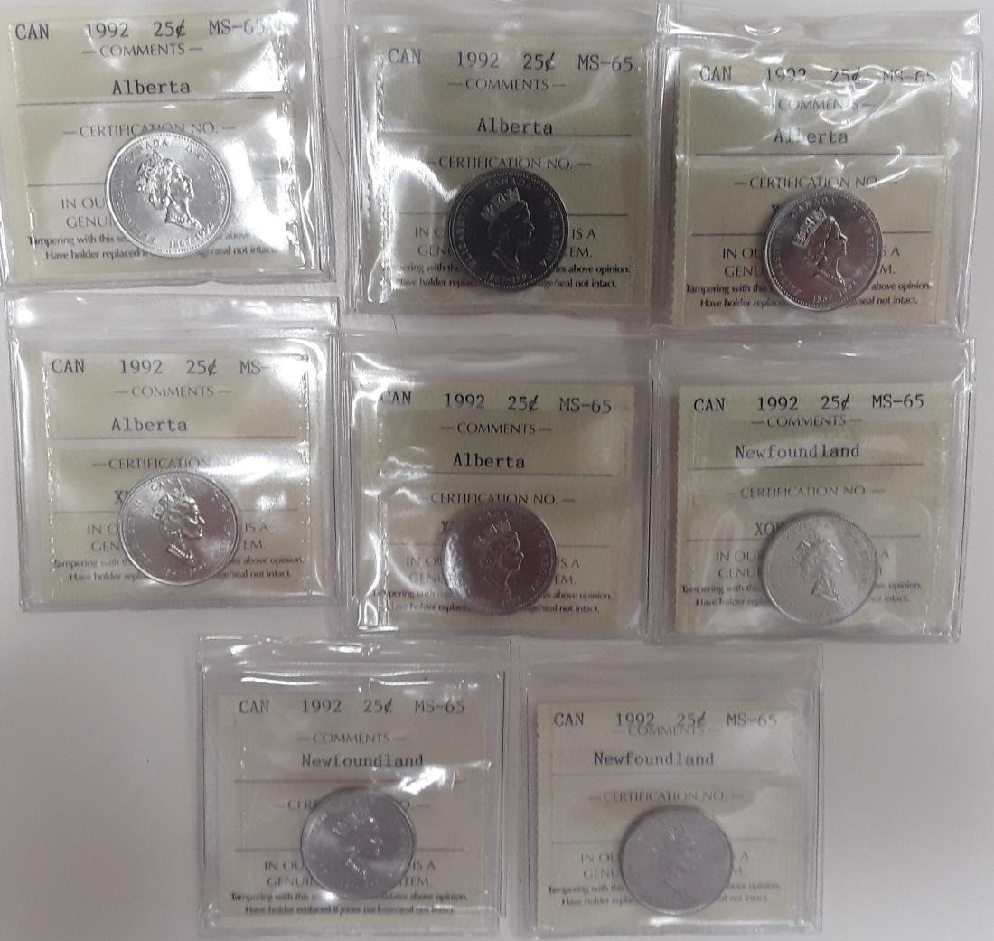 Canadian Provincial 25 Cent Collection
