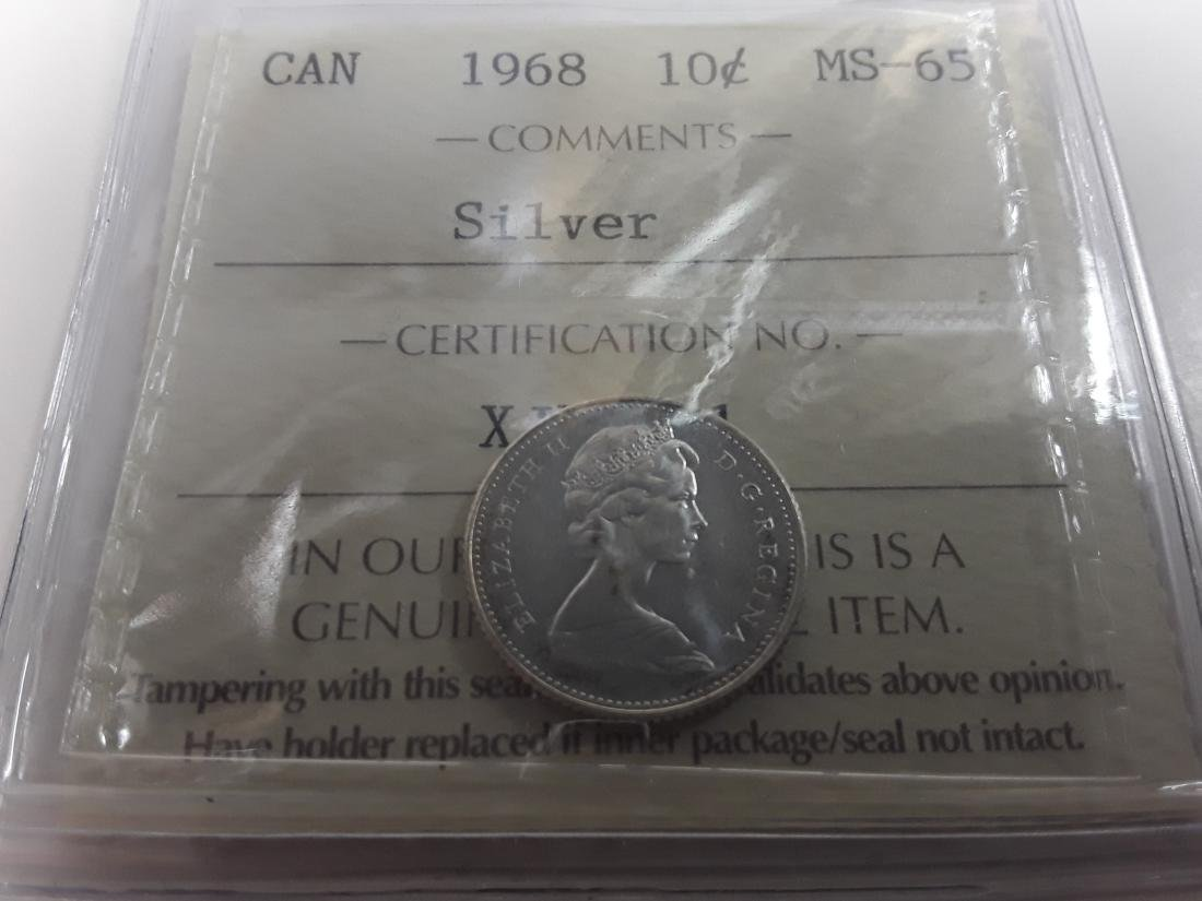 Canadian 1968 10 Cent  (Silver) Coin Collection - 4