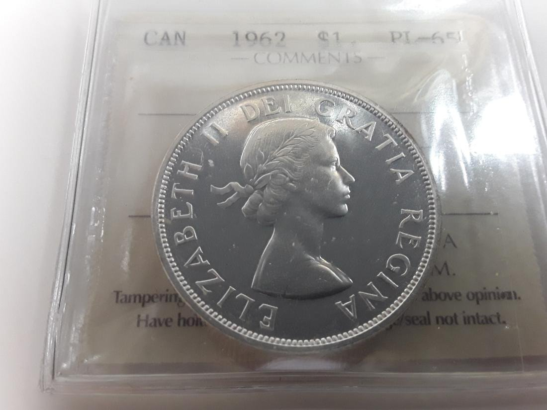 Canadian  1962 Prooflike Silver Dollar Coin Collection - 4