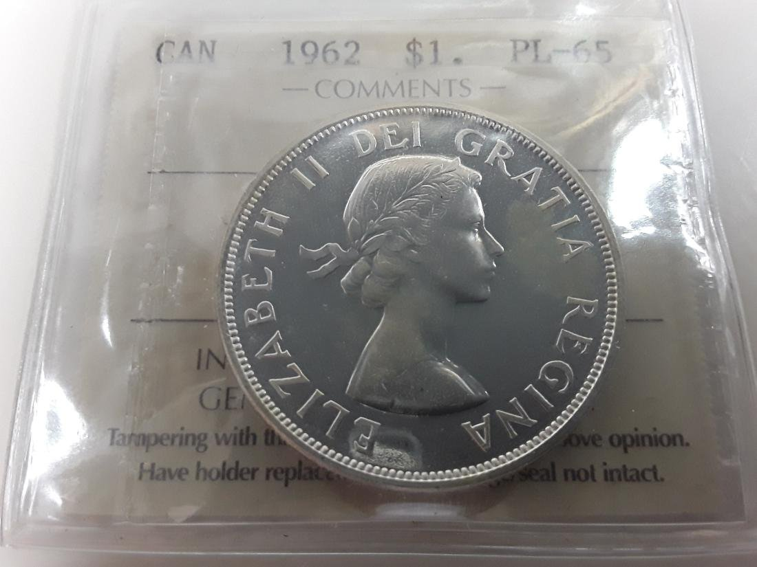 Canadian  1962 Prooflike Silver Dollar Coin Collection - 6