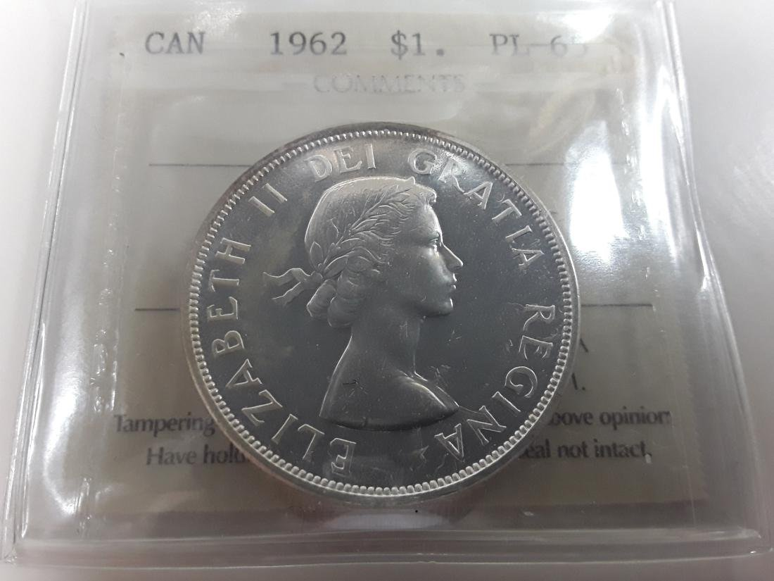 Canadian  1962 Prooflike Silver Dollar Coin Collection - 9