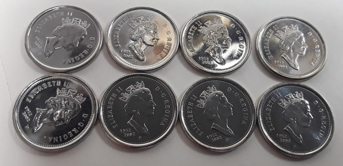 Canadian 2002P 10 Cent Coin Collection (dime) - 8