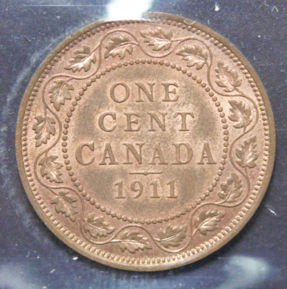 Canada 1911 One Cent ICCS MS63 Red & Brown - 3