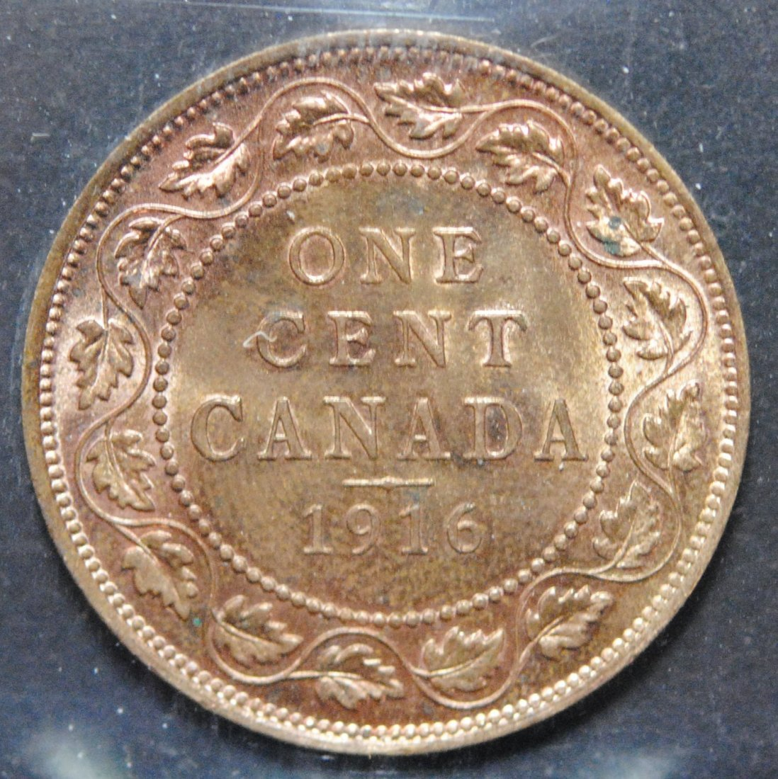 Canada 1916 One Cent ICCS MS64 Red & Brown - 3
