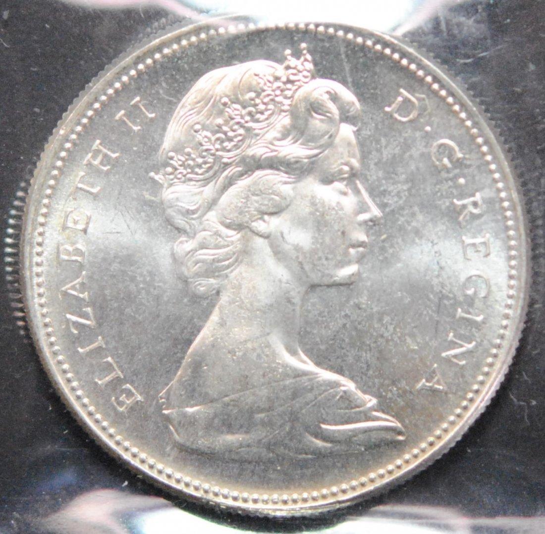Canada 1967 Dollar ICCS MS64 - 2