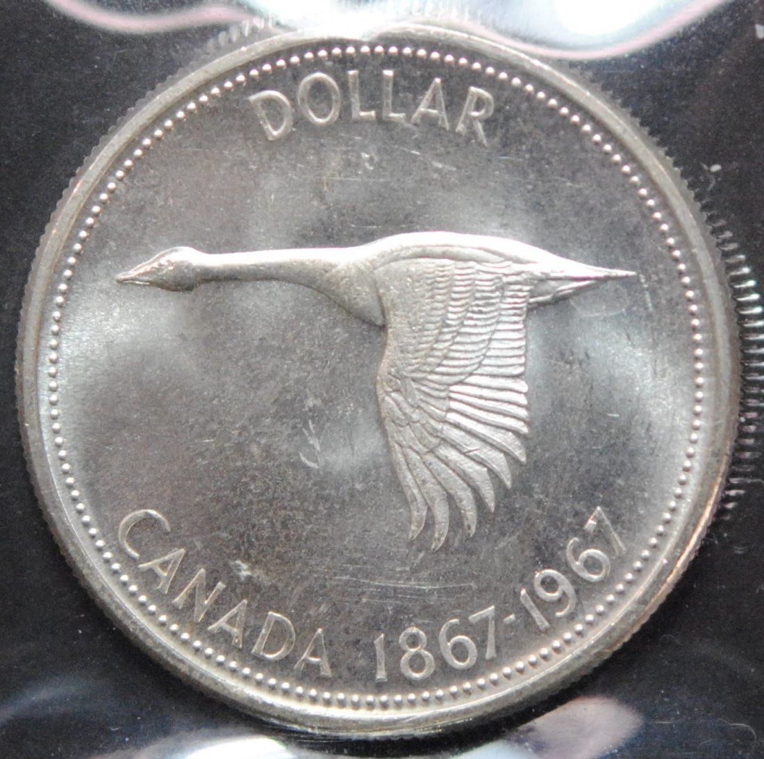 Canada 1967 Dollar ICCS MS64 - 3