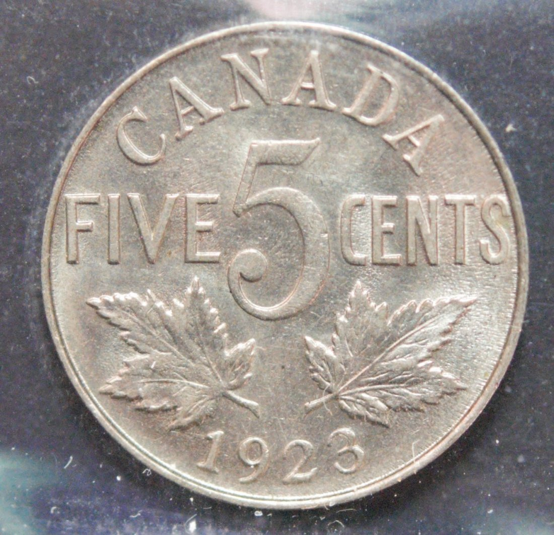 Canada 1923 Five Cent ICCS MS63 - 3