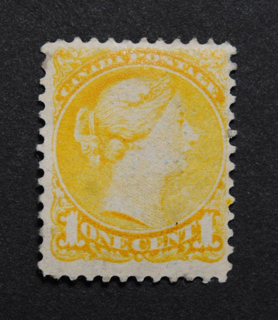 Canada 1c S/C #35 Yellow F MNH
