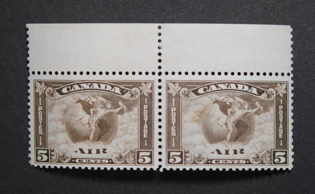 Canada 5c Air Mail Pair S/C #C2 VF MNH Superb