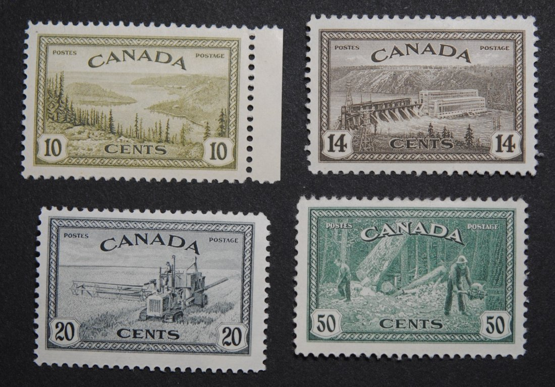 Canada 1946 George VI Stamps