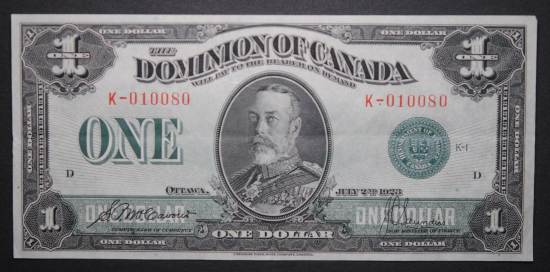 Canada 1923 George V Bank Note VF/EF